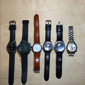 6 men's fashion watches - made in Taiwan